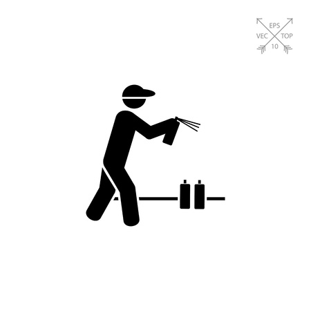 Man with Graffiti Spray Can Icon