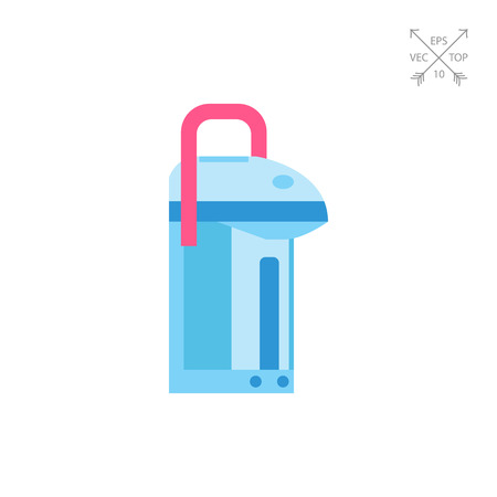 boiler: Modern thermo pot vector icon