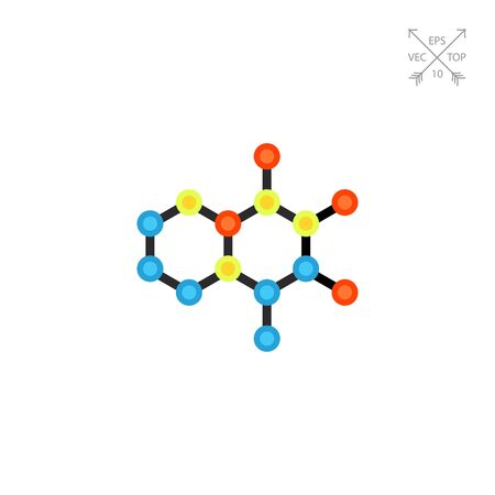 Molecular Structures Vector Icon Illustration