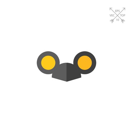 Vector icon of black cap with mouse ears