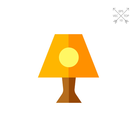 Illustration of nightlight. Lamp, night time, interior design. Light concept. Can be used for topics like night time, light, appliance Illustration