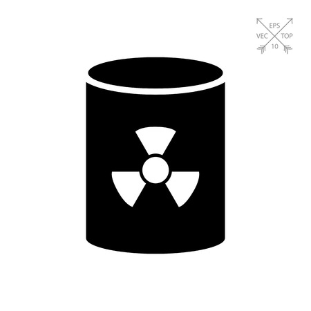 Icon of barrel with radiation sign