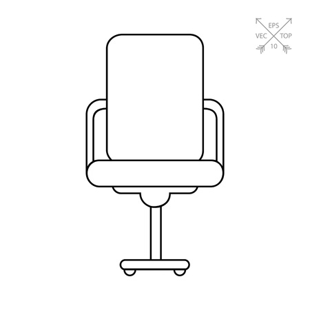 swivel: Office Chair Icon Illustration