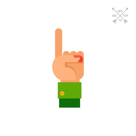 forefinger: One Finger Up Icon