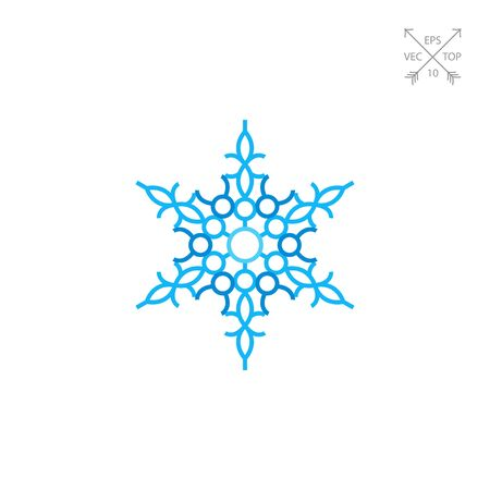 Ornate Blue Snowflake Icon