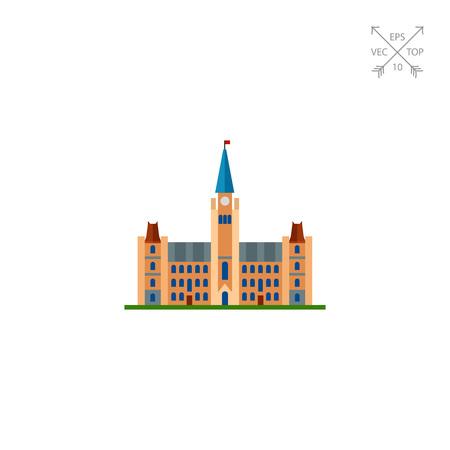Ottawa parliament hill icon Stock Illustratie