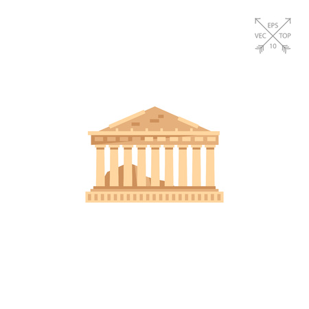 Parthenon temple icon