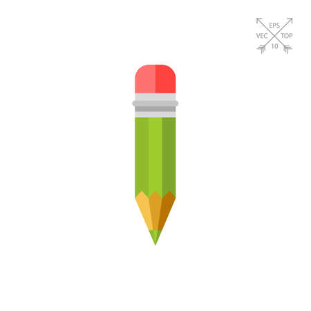 Pencil with Red Eraser Icon Stock Photo