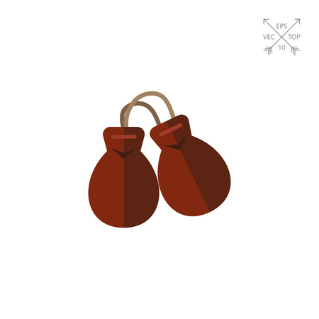 concave: Icon of percussion musical instrument castanets on string. Concave shells, sound, flamenco. Spain concept. Can be used for topics like culture, music,  or tradition Illustration