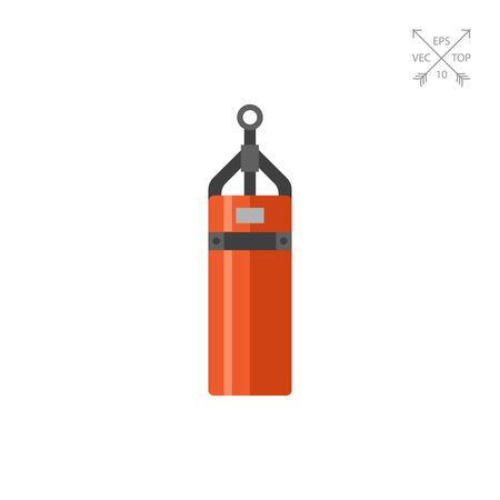 combative: Multicolored vector icon of cylindrical punching bag Illustration