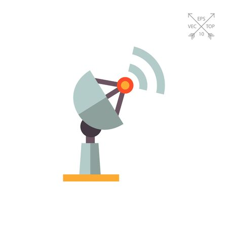 Multicolored vector icon of antenna receiving signal Illustration