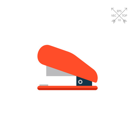 Red stapler icon Illustration