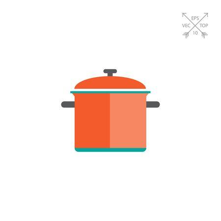 saucepan: Red saucepan