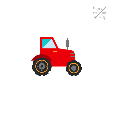 movers: Red tractor icon