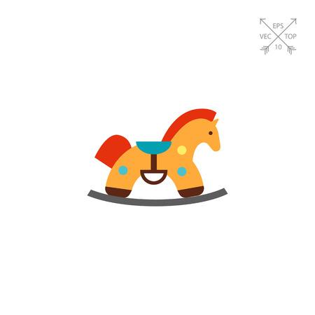 Rocking horse icon. Illustration
