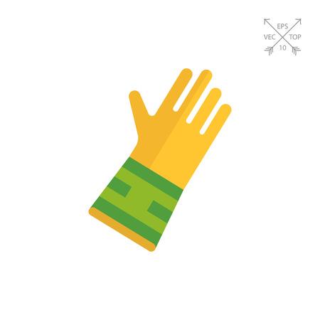 Rubber glove. Illustration