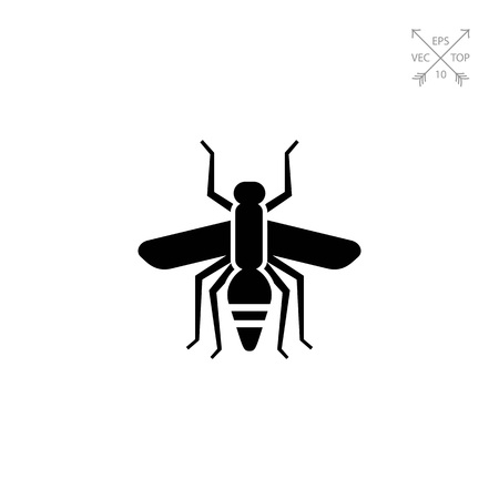 Mosquito silhouette icon Illustration