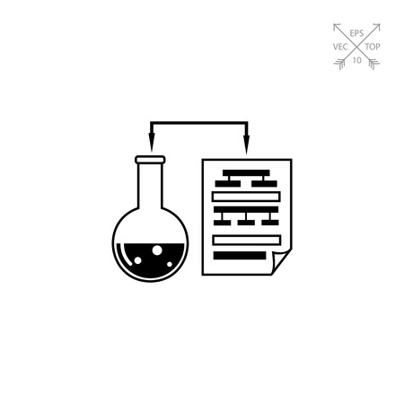 Science data simple icon