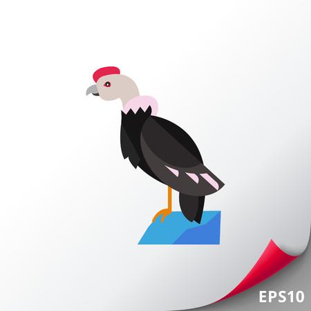andean condor: Andean condor on mount icon