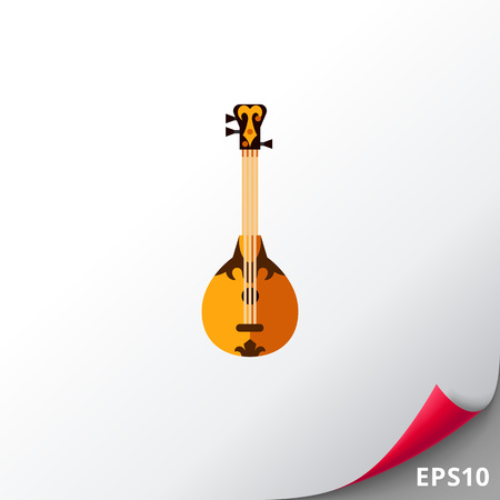 Dombra string instrument icon