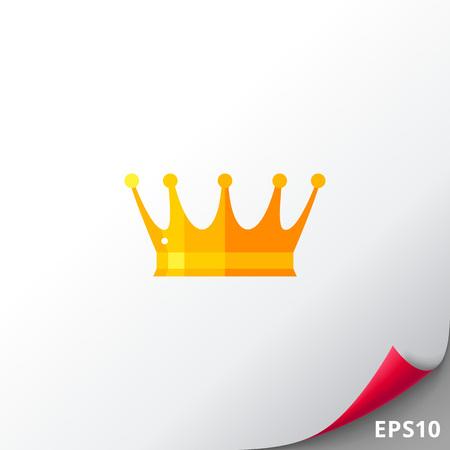 Golden crown icon