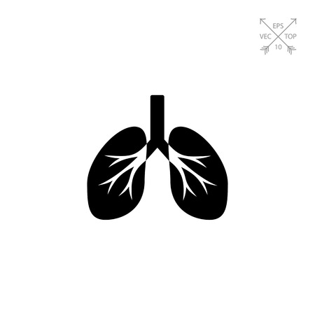 topics: Isolated human lungs. Breath, air, smoking. Lungs concept. Can be used for topics like medicine, healthcare, anatomy.