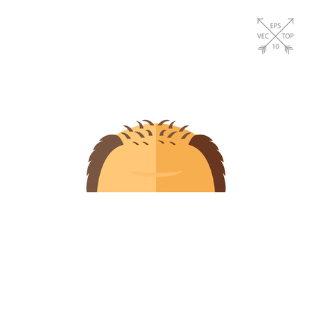 Icon of forehead of balding man. Male beauty, wrinkles, rejuvenation. Hair loss concept. Can be used for topics like healthcare, hairstyle, aging Illustration