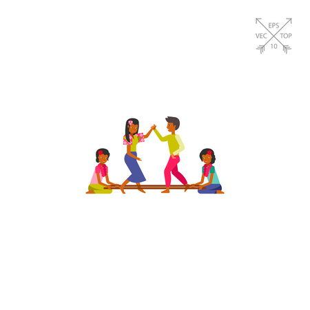 coordination: Philippines people dancing tinikling icon Illustration