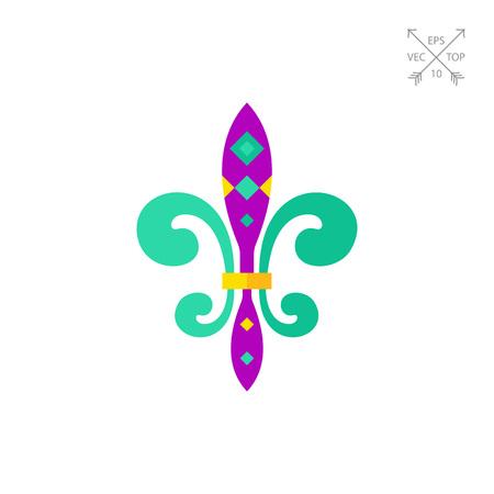 Mardi Gras Fleur de Lis icon