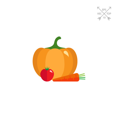 Pumpkin, tomato and carrot