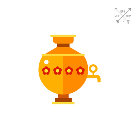 Samovar Vector Icon Illustration
