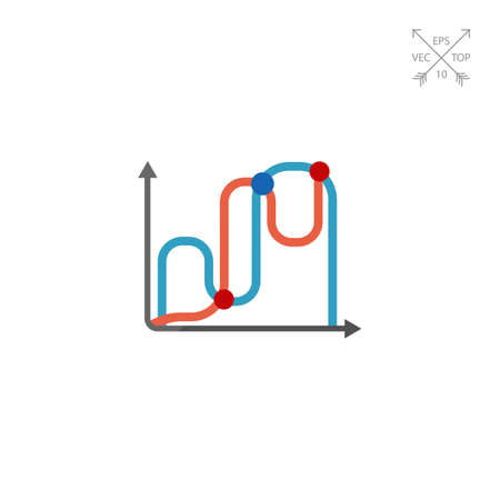 Icon of two line graphs Çizim