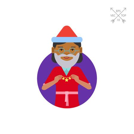 Senior woman holding Christmas ornament