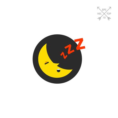 snore: Sleeping Moon Icon