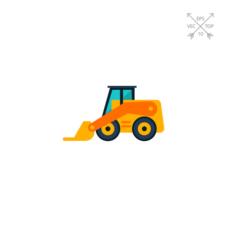 skid loader: Skid loader icon