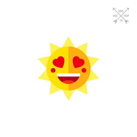 Smile lovely sun icon
