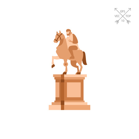 Statue of Marcus Aurelius on horse icon Stock Vector - 75863138