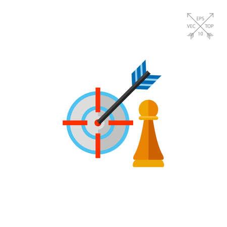Strategy Focus Concept Icon Illustration