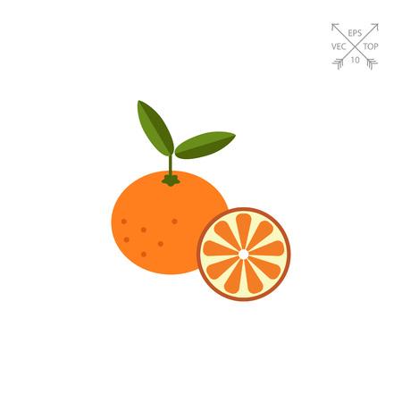 tangerine: Tangerine and tangerine half