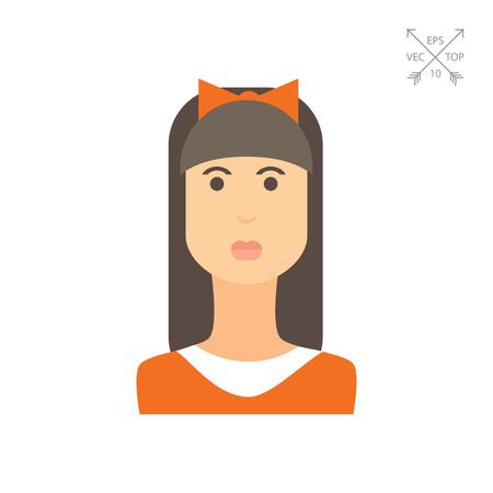 Teenage girl portrait Illustration