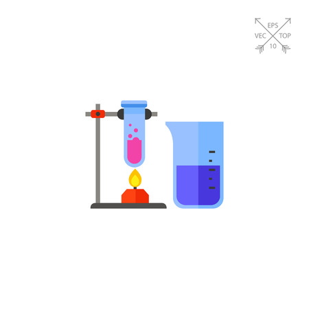 laboratory equipment: Test Tubes as Chemistry Concept Icon