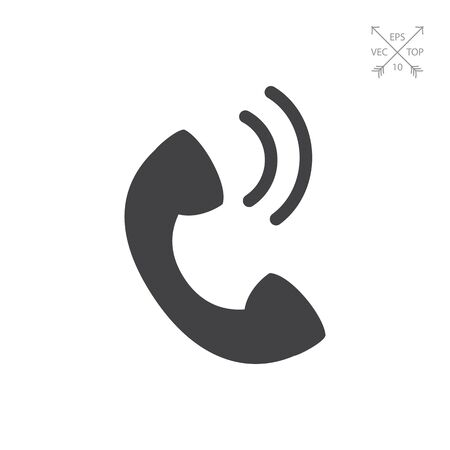 replying: Telephone receiver Illustration