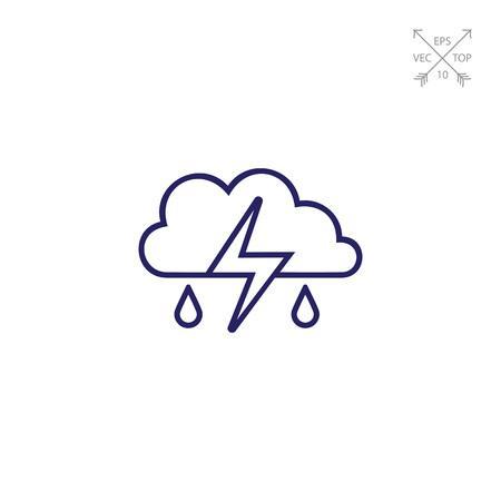 thunderstorm: Thunderstorm icon Illustration