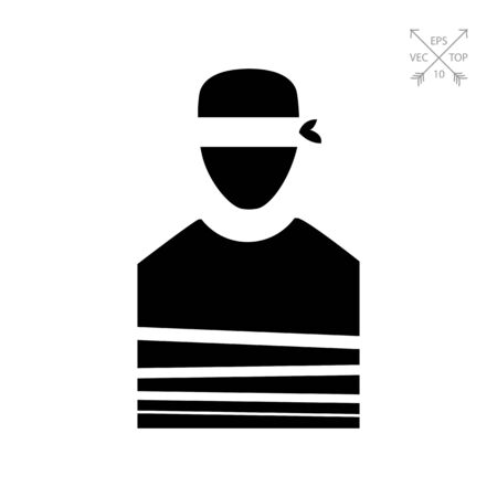 Tied Hostage with Blindfold Icon Imagens - 75508679