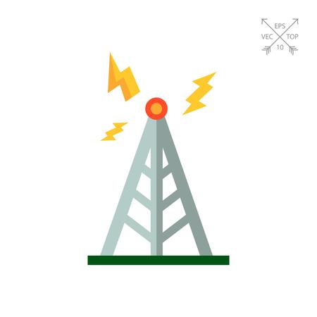 tv tower: Transmitting tower icon Illustration