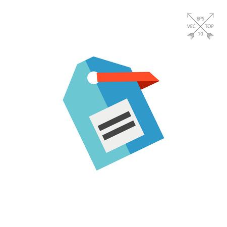 simple store: Vector Label Icon Illustration