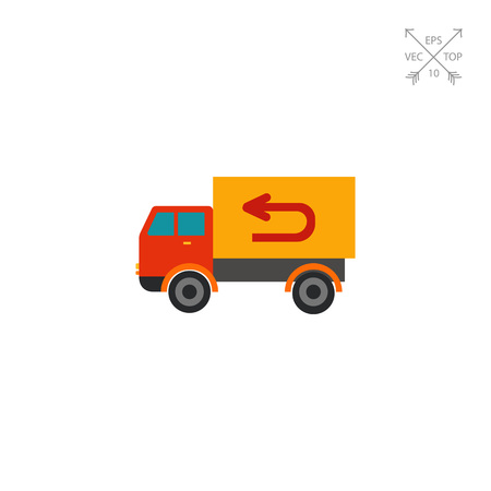 quickly: Vector Truck Icon Illustration