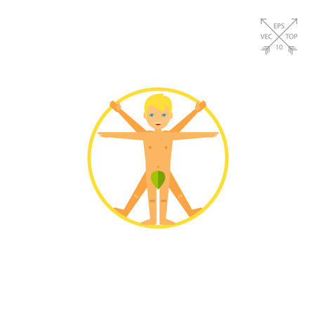 Vitruvian Man Concept Icon Illustration
