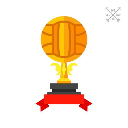 Volleyball trophy cup icon