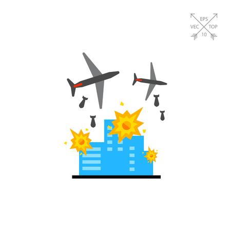 eliminating: War Vector Icon Illustration